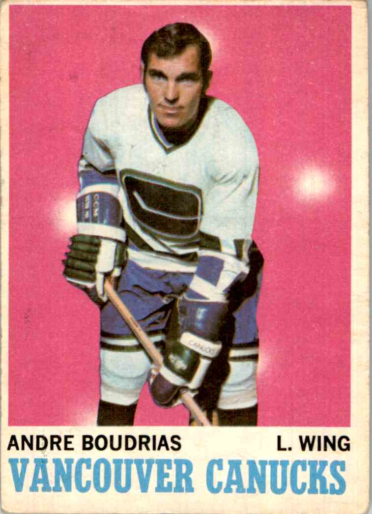 1970-71 O-Pee-Chee Andre Boudrias #121 card front image