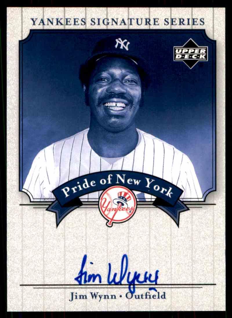 2003 Upper Deck Yankees Siganture Series Jim Wynn card front image