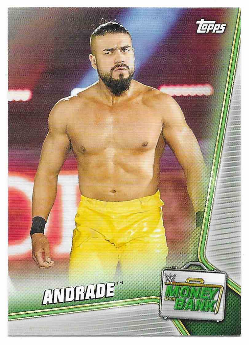 2019 Topps Wwe Money In The Bank Andrade #5 card front image