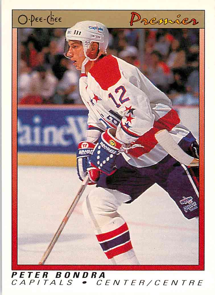 1990-91 O-Pee-Chee Premier Peter Bondra #7 card front image