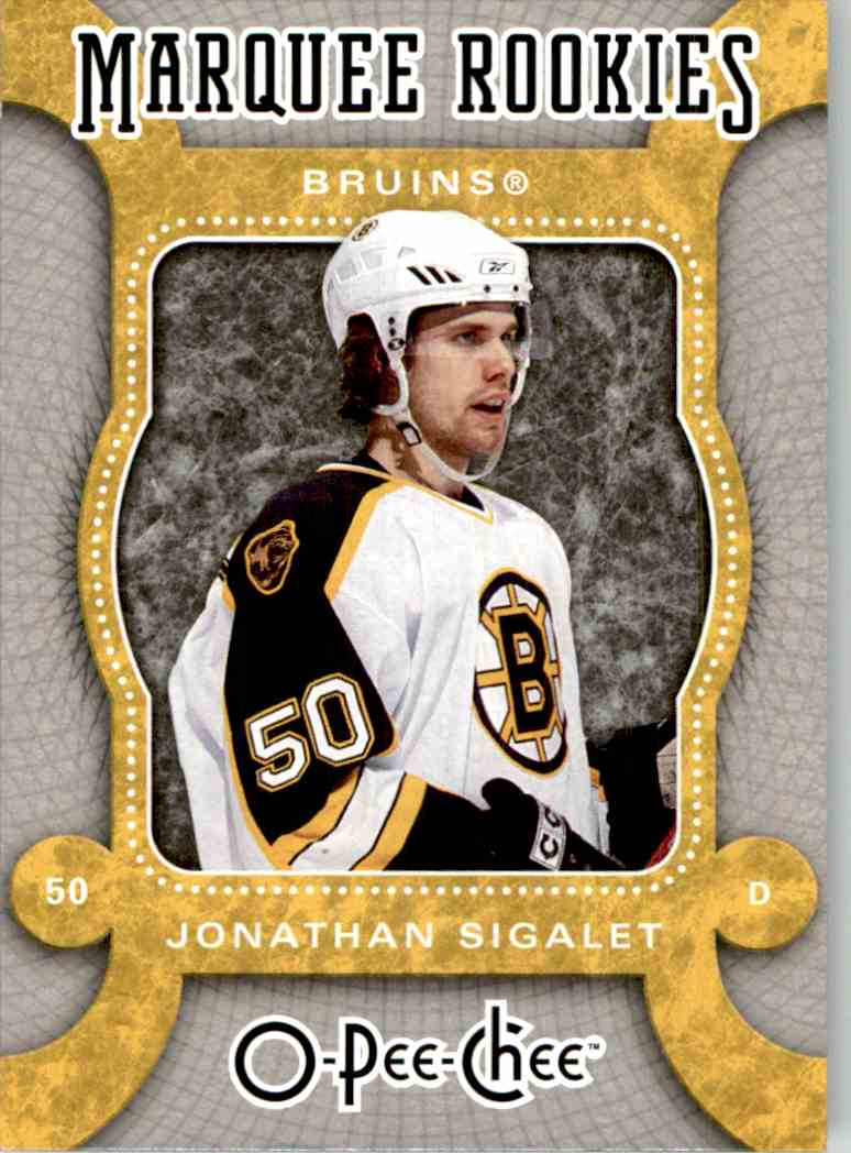 2007-08 O-Pee-Chee Marquee Rookie Jonathan Sigalet #512 card front image