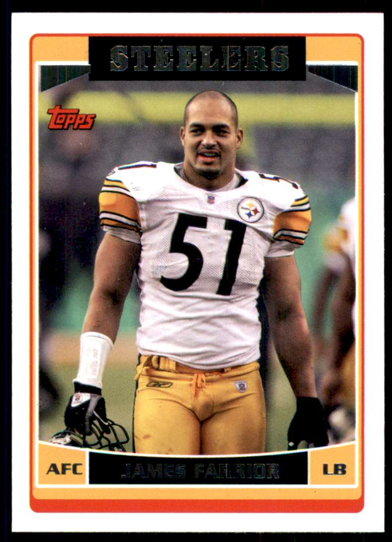 2006 Topps James Farrior #264 card front image