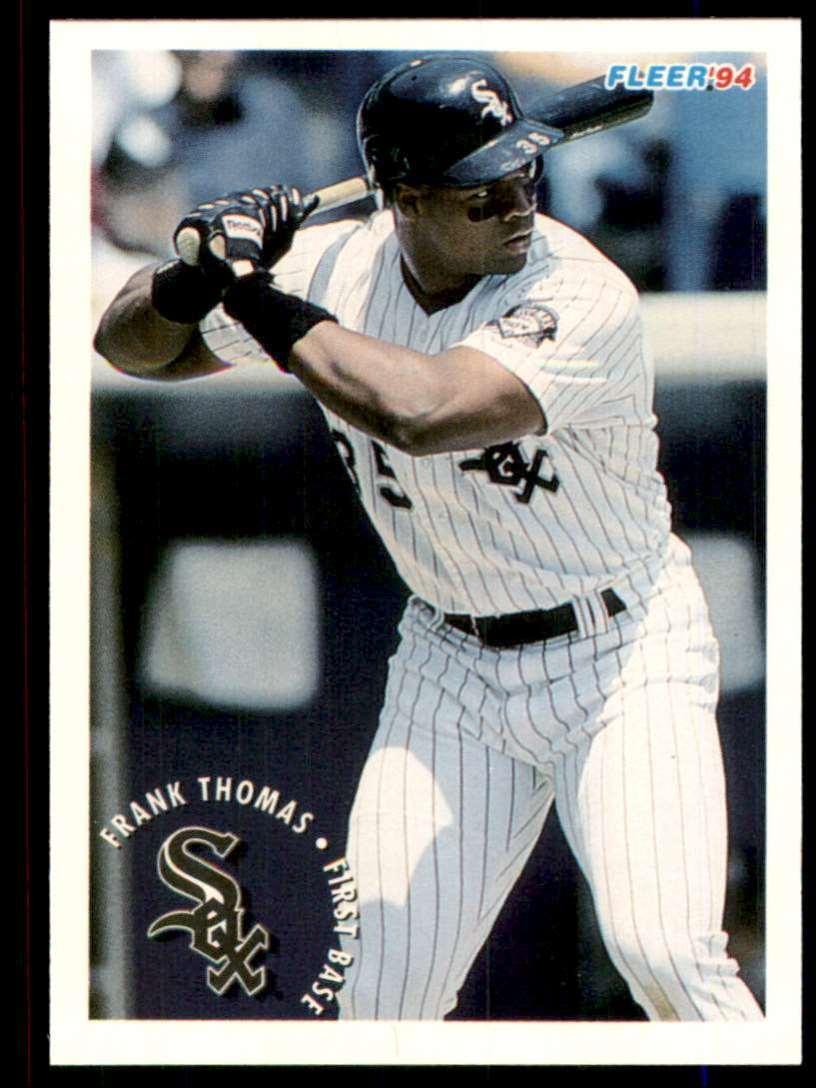 1994 Fleer Sunoco Frank Thomas #23 card front image