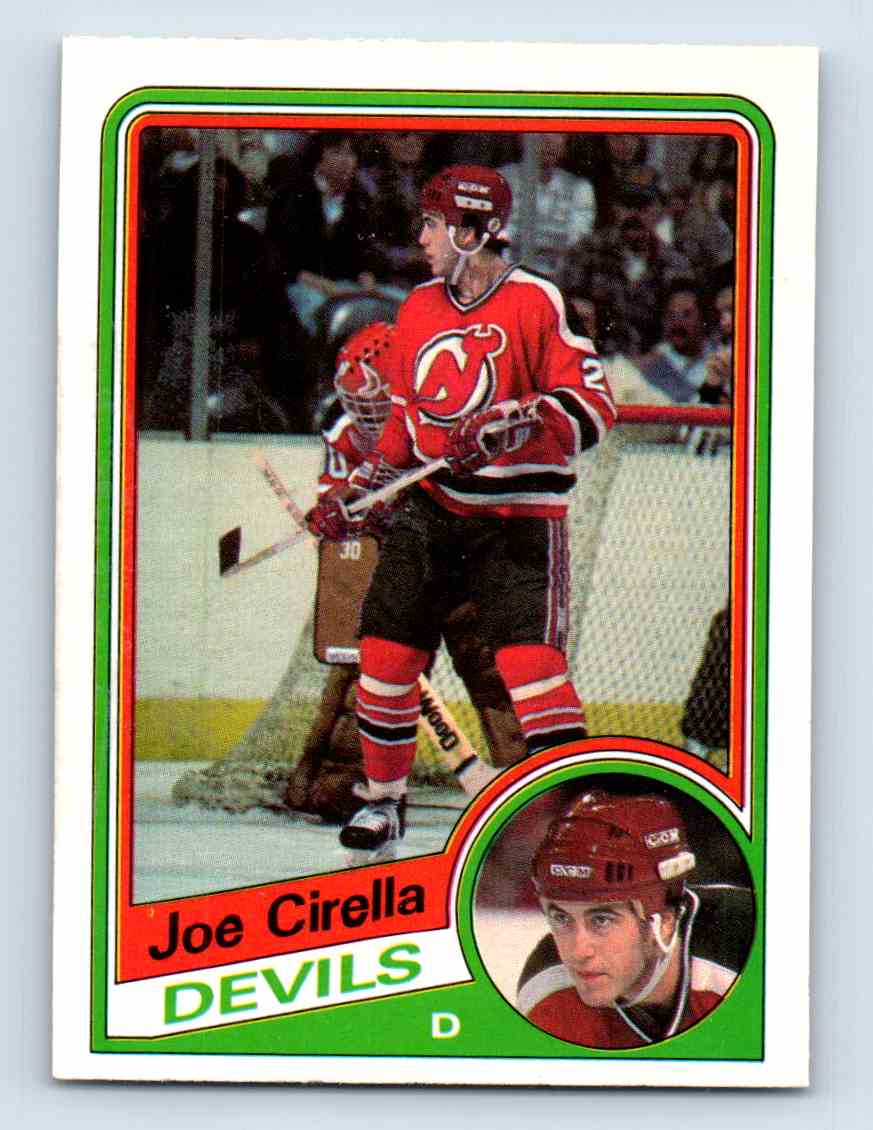 1984-85 O-Pee-Chee Joe Cirella #110 card front image