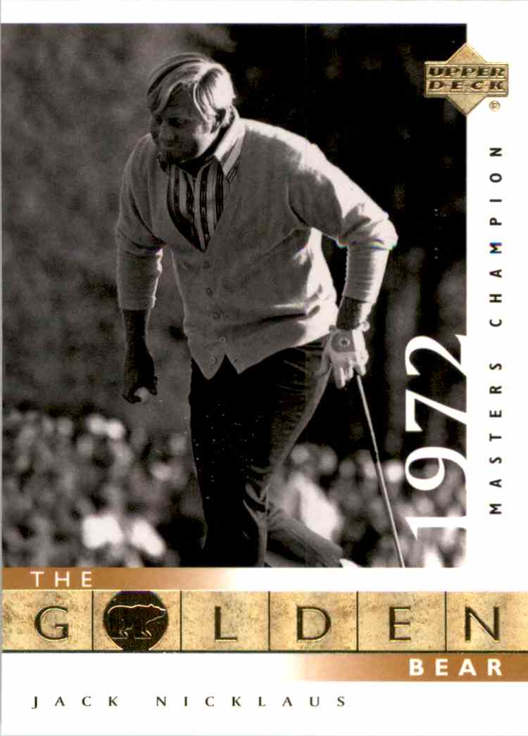 2001 Upper Deck J.Nicklaus Gb 72 Masters #115 card front image
