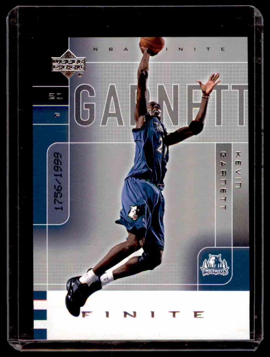 2002-03 Upper Deck Finite Kevin Garnett #54 card front image