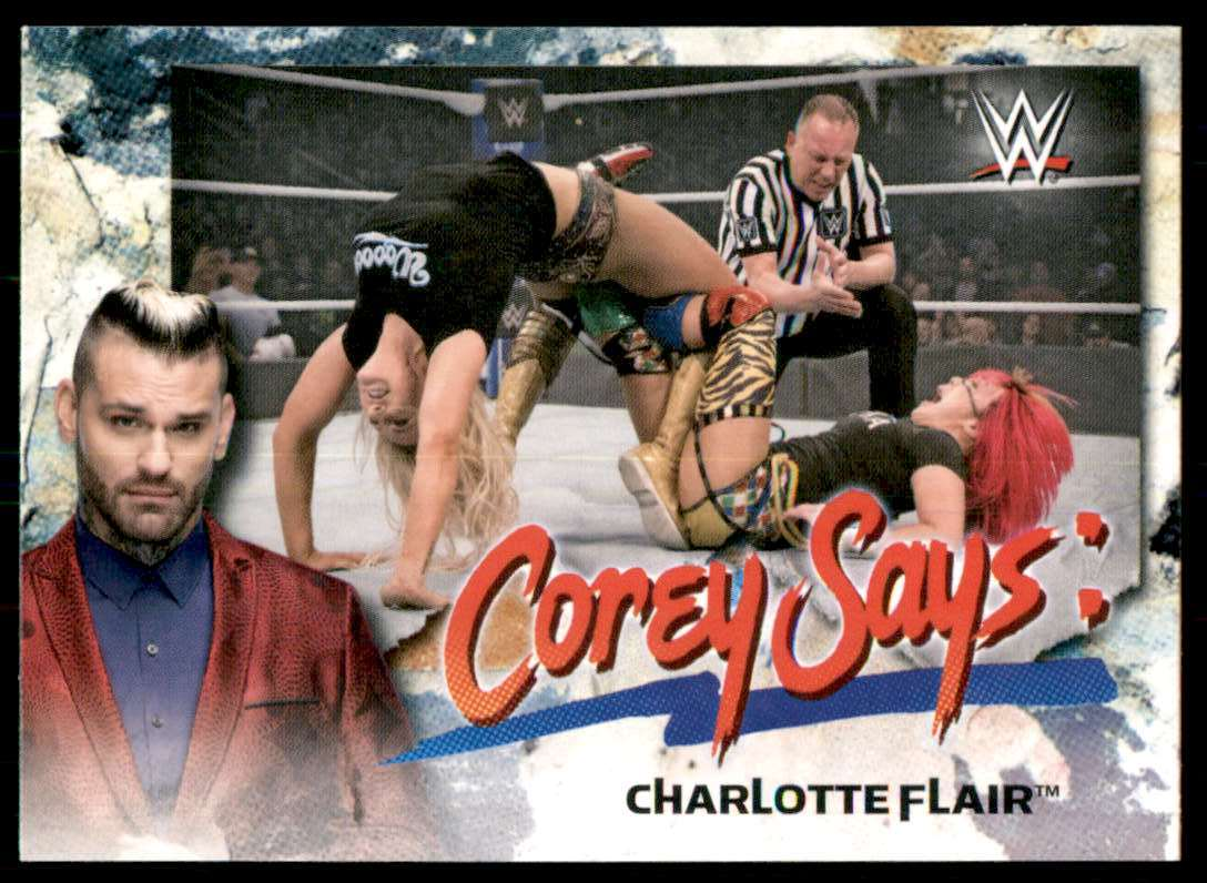 2019 Topps Wwe SmackDown Live Corey Says Charlotte Flair #CG6 card front image