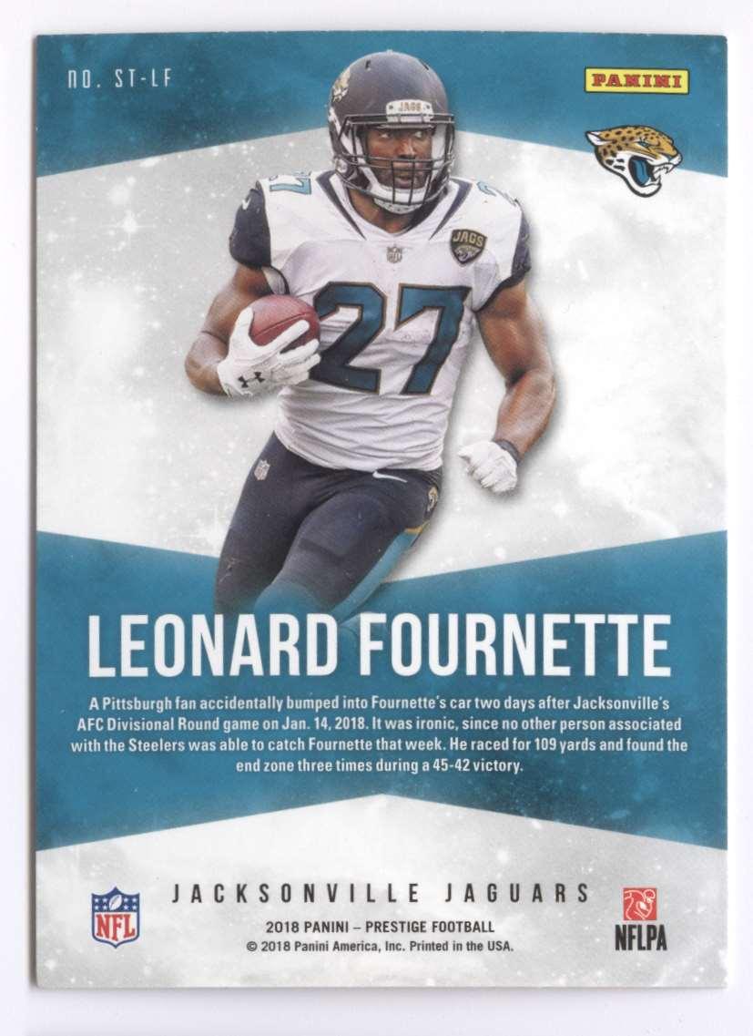 2018 Panini Prestige Stars Of The NFL Leonard Fournette #ST-LF card back image