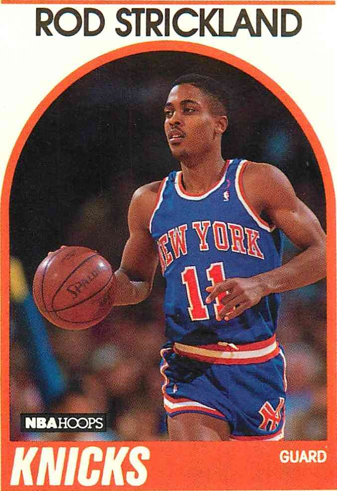1989-90 Nba Hoops Rod Strickland #8 card front image