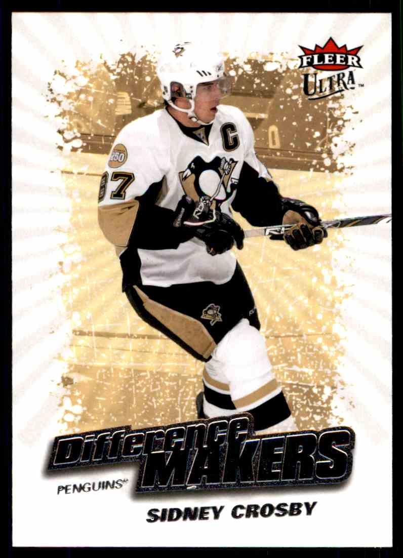 2008-09 Ultra Difference Makers Sidney Crosby #DM11 card front image