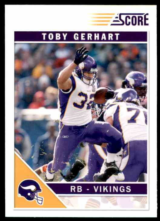 2011 Score Toby Gerhart #166 card front image