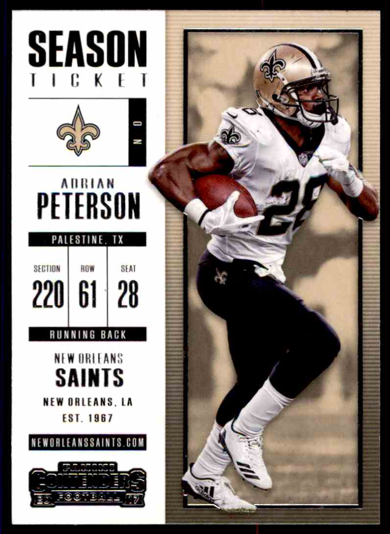 2017 Panini Contenders Adrian Peterson #8 card front image