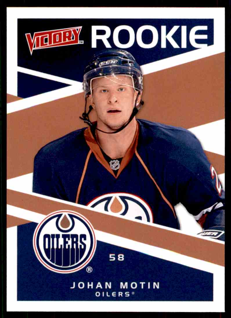 2010-11 Upper Deck Victory Rookie Johan Motin #217 card front image