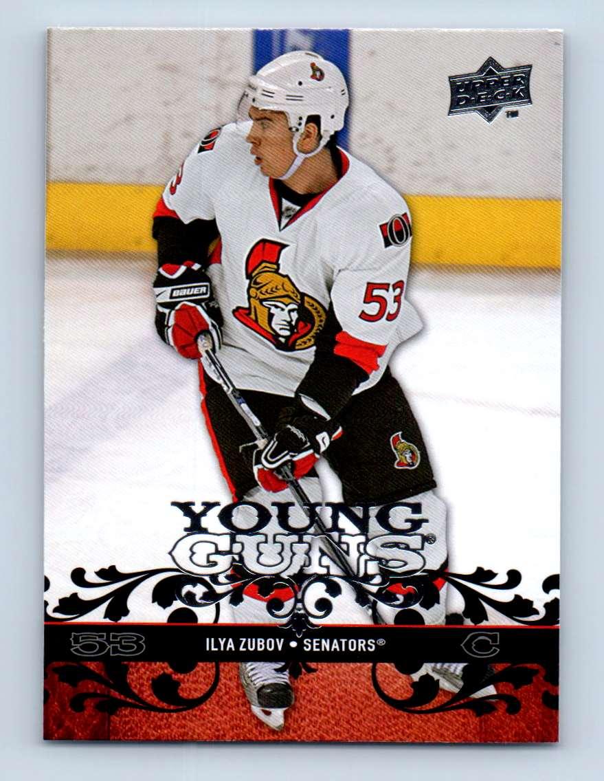 2008-09 Upper Deck Young Guns Ilya Zubov #232 card front image