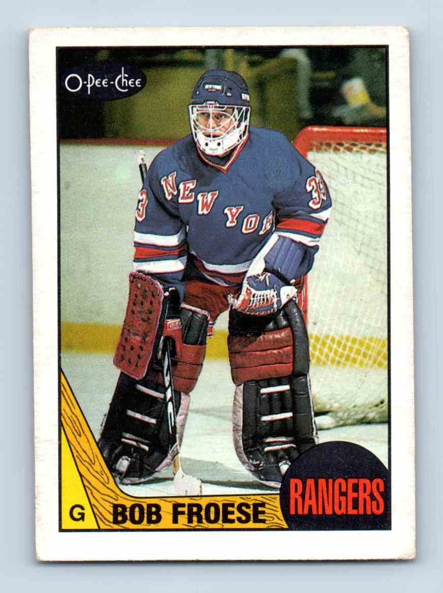 1987-88 O-Pee-Chee Bob Froese #195 card front image