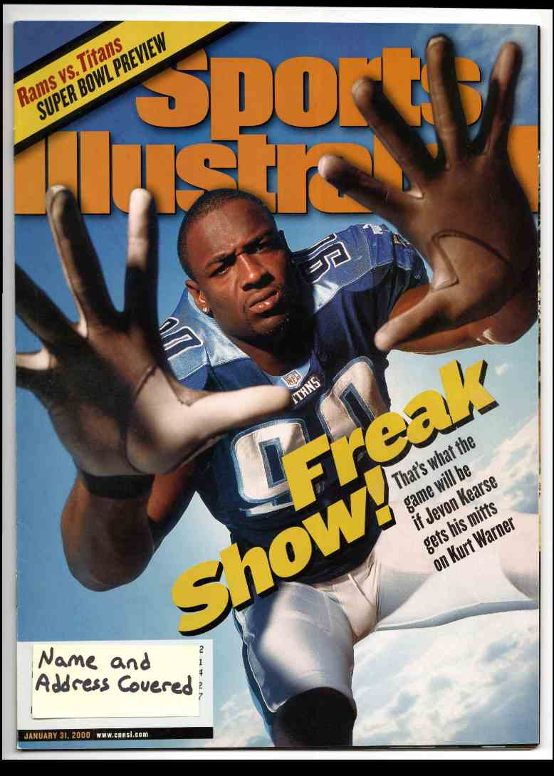 2000 Sports Illustrated Jevon Kearse #1-31-00 card front image