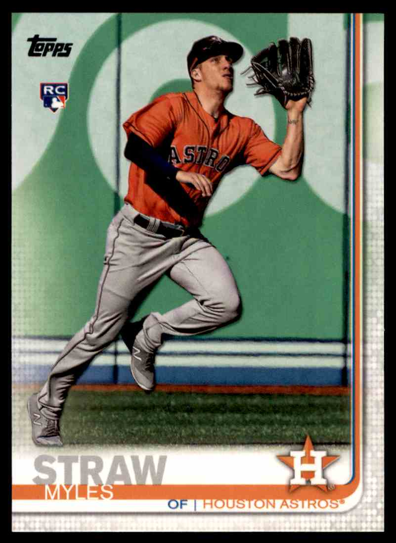 2019 Topps Series 2 Myles Straw #629 card front image