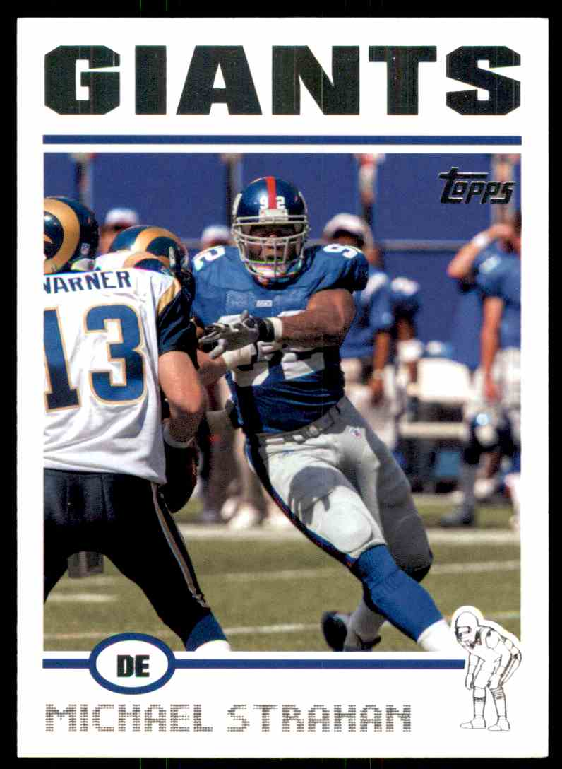 2004 Topps Michael Strahan #141 card front image