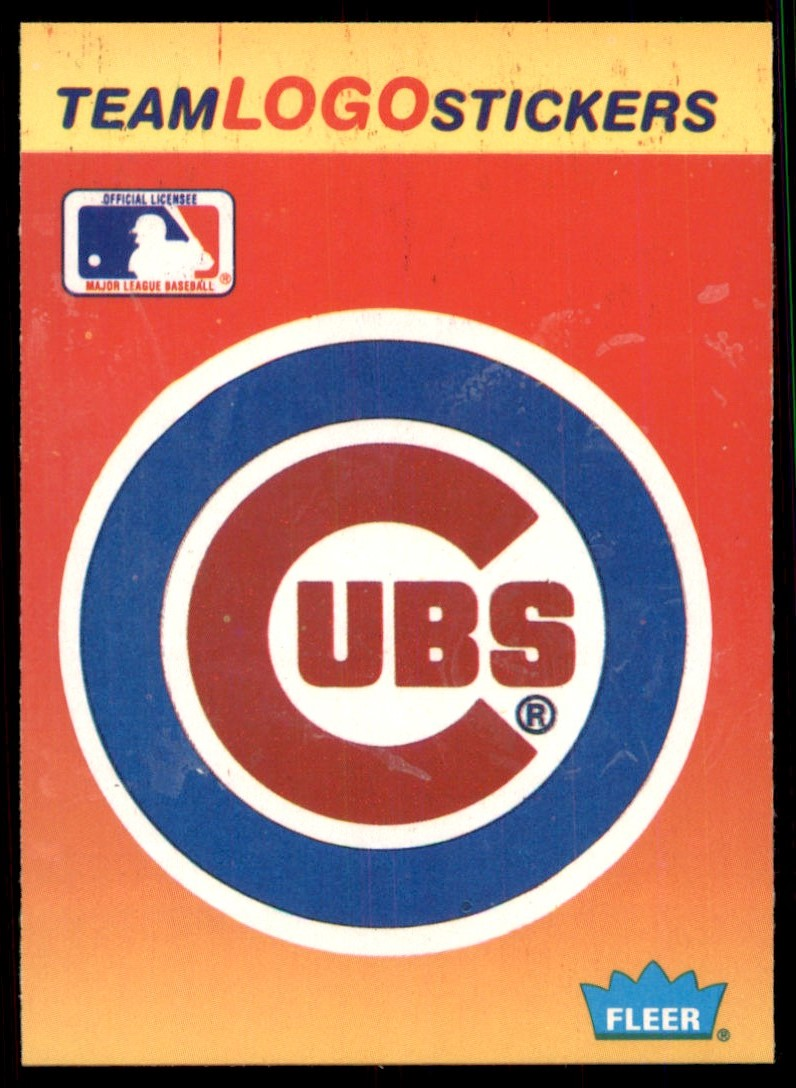 1991 Fleer Team Logo Stickers Chicago Cubs #17 card front image