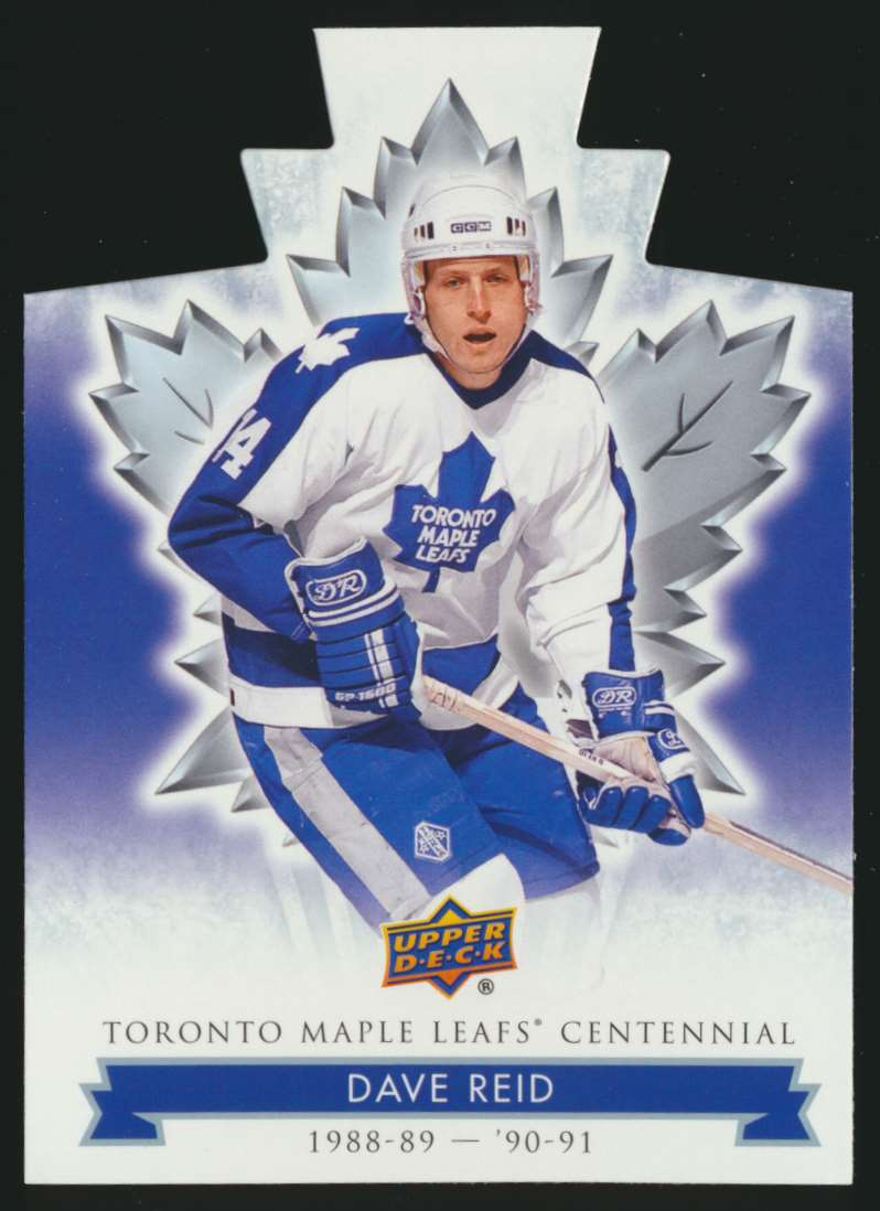 2017-18 UD Maple Leafs Centennial Die Cut Dave Reid #36 card front image