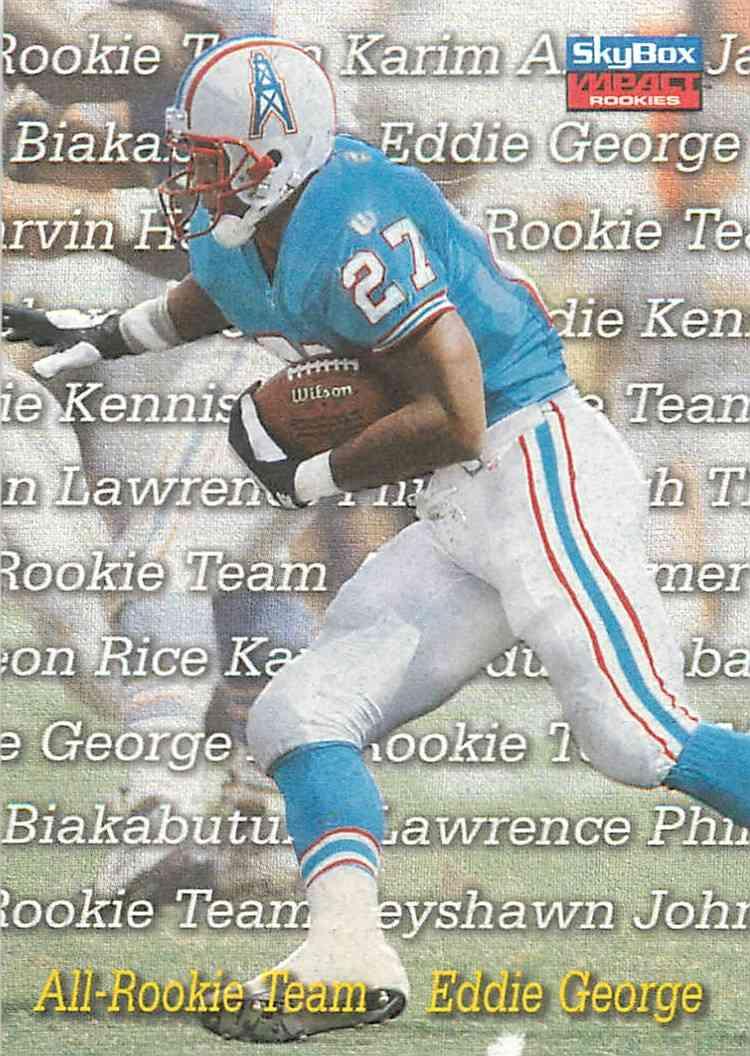 1996 Skybox Impact Rookies Eddie George #3 card front image