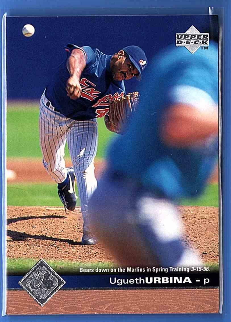 1997 Upper Deck Ugueth Urbina #112 card front image