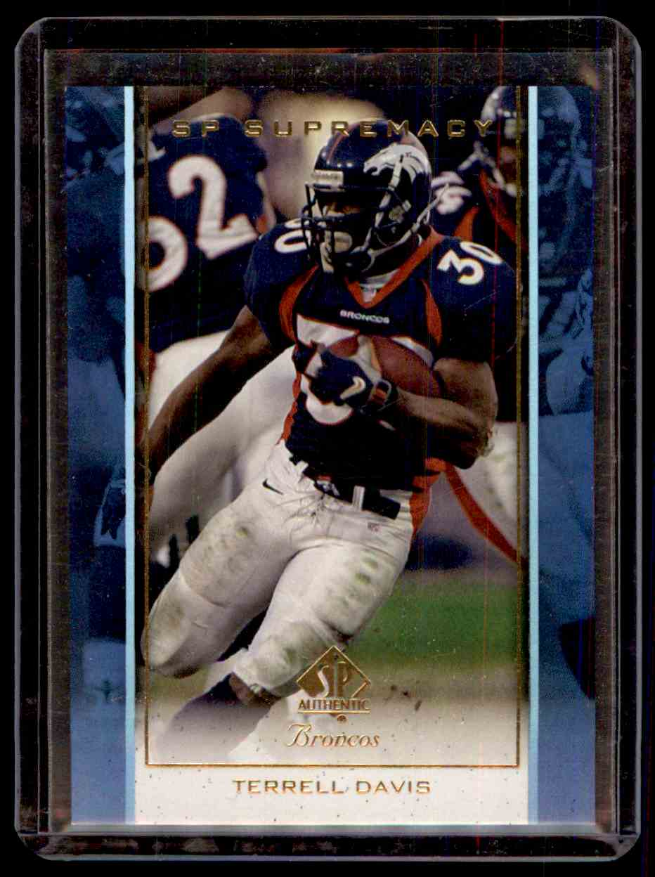 1999 SP Authentic Supremacy Terrell Davis #S1 card front image