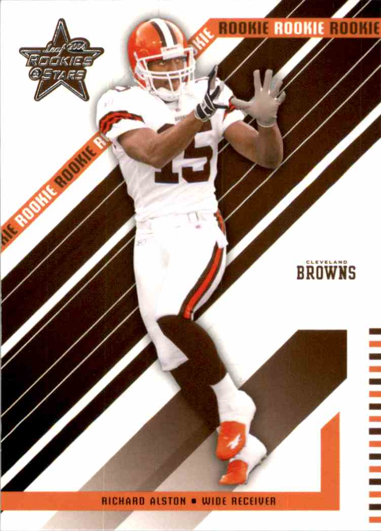 2004 Leaf Rookies And Stars Richard Alston RC #123 card front image