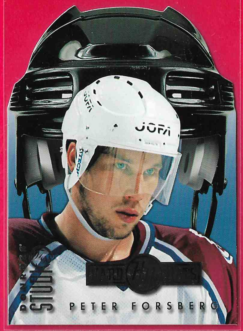 1997-98 Donruss Studio Hard Hats Peter Forsberg #16 card front image