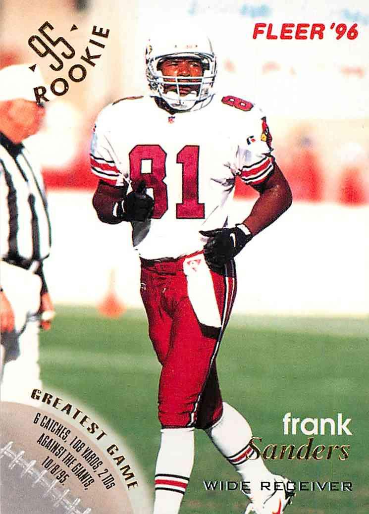 1996 Fleer Frank Sanders #3 card front image