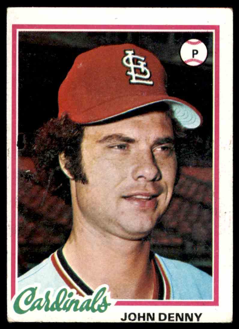 1978 Topps John Denny #609 card front image