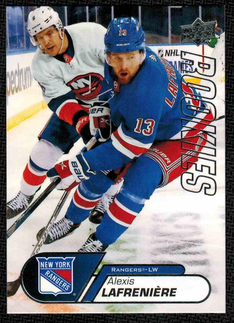 2021-22 UD NHL Rookie Box Set Alexis Lafreniere #1 card front image