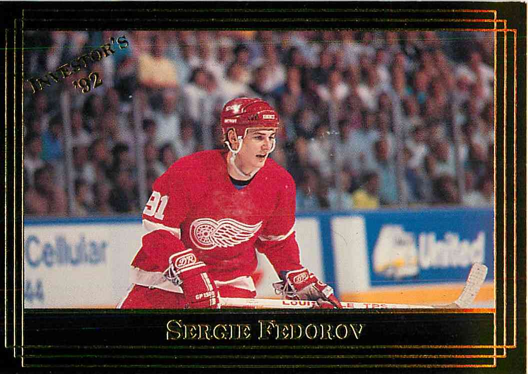 1992-93 Investor's Journal Sergei Fedorov #26 card front image