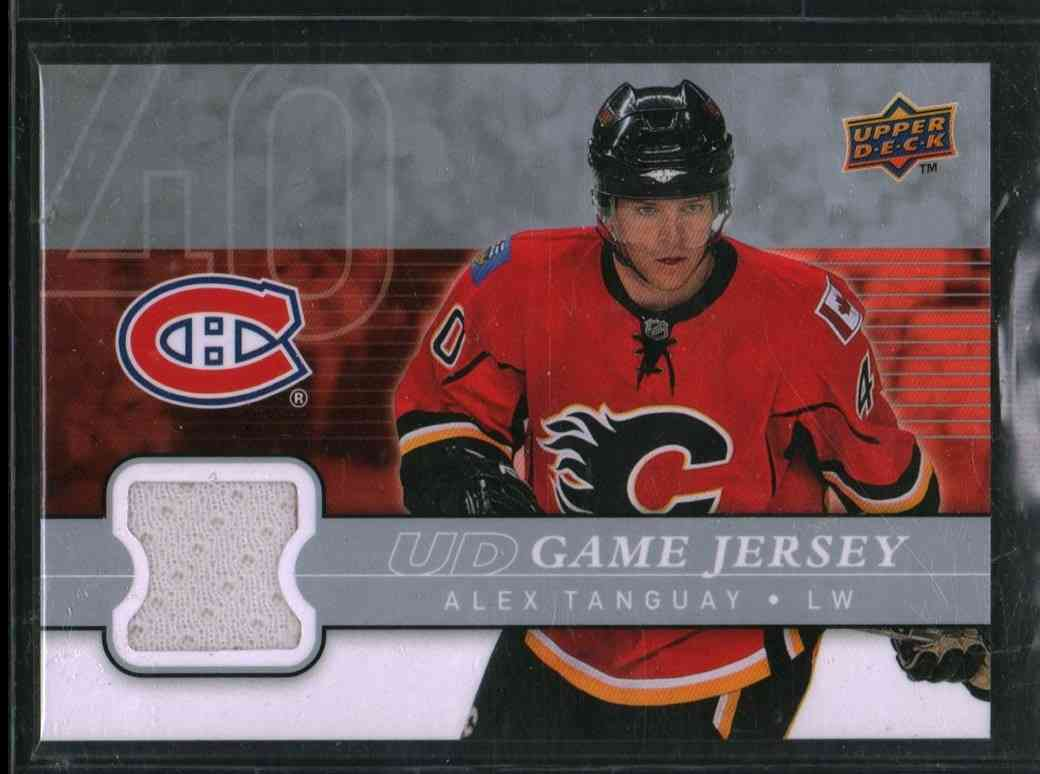 2008-09 Upper Deck Alex Tanguay #GJ-AT card front image