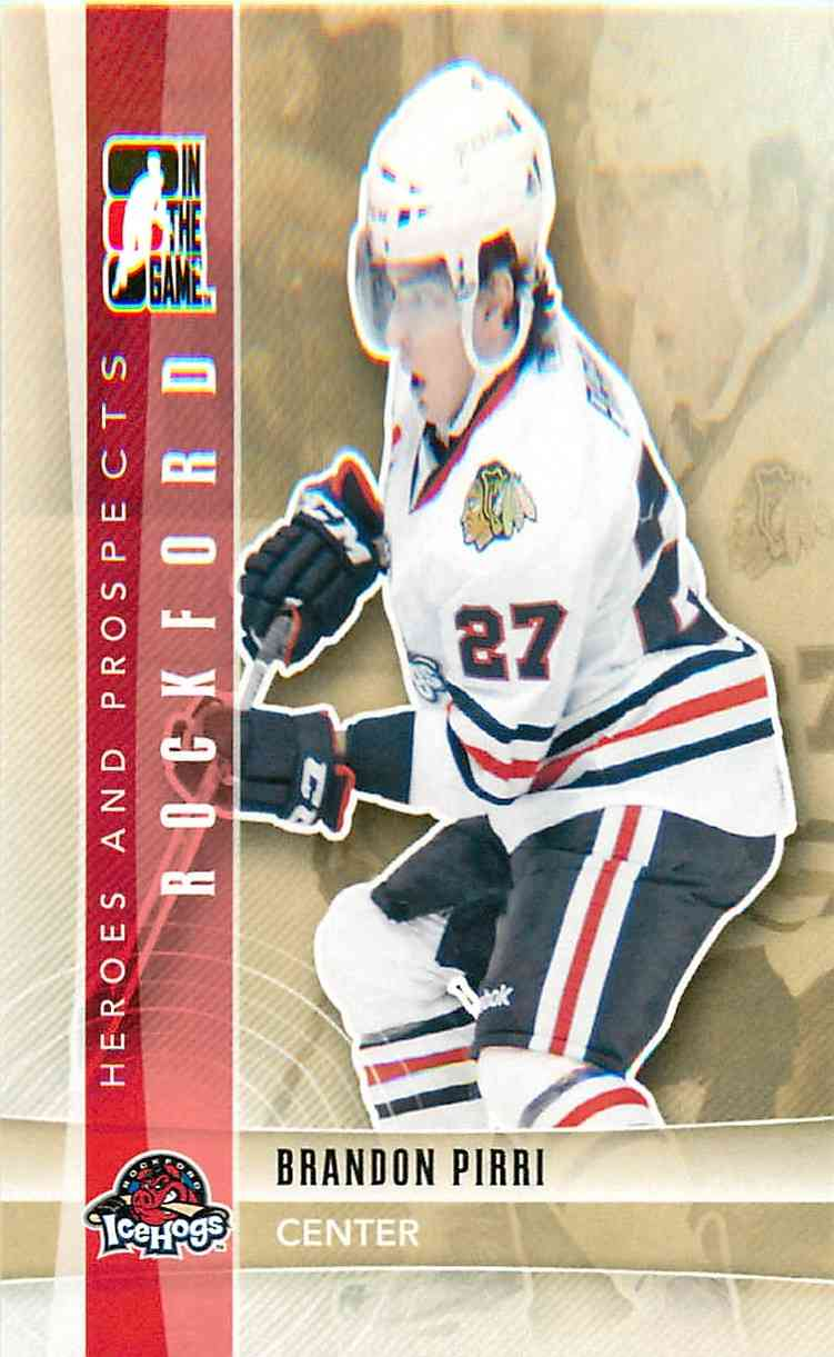 2011-12 In The Game Heroes And Prospects Brandon Pirri #108 card front image