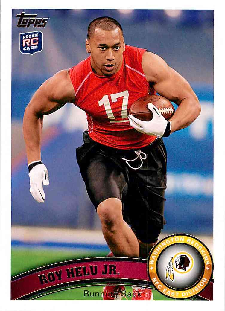 2011 Topps Roy Helu JR. #249 card front image
