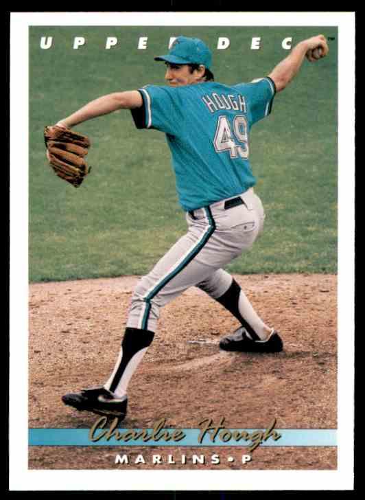 1993 Upper Deck Charlie Hough #518 card front image