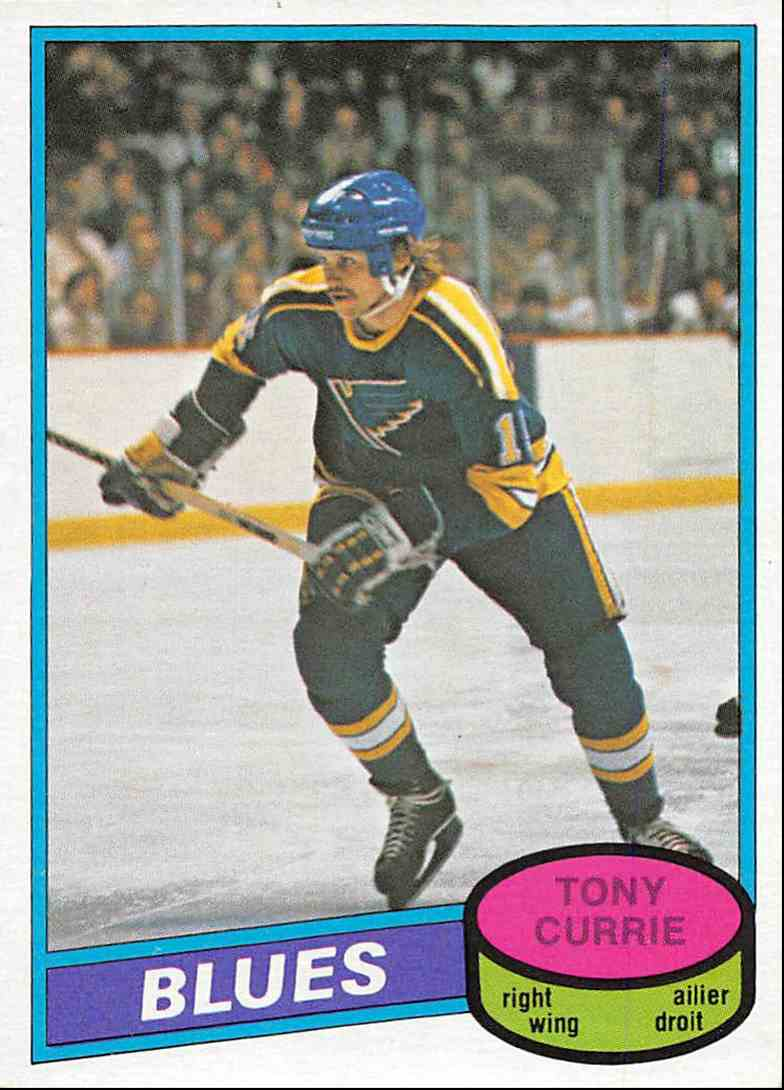 1980-81 O-Pee-Chee Tony Currie #384 card front image