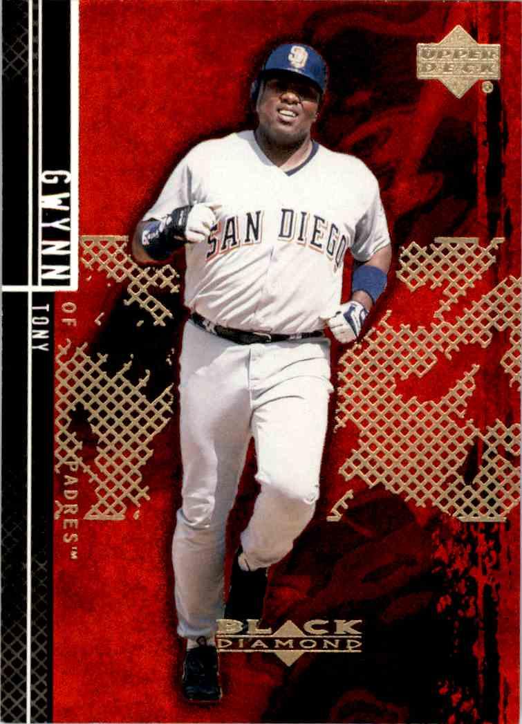 2001 Black Diamond Tony Gwynn #76 card front image