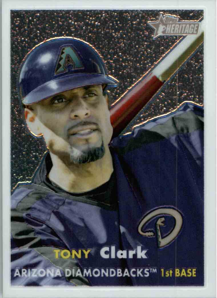 2006 Topps Heritage Chrome Tony Clark #102 card front image
