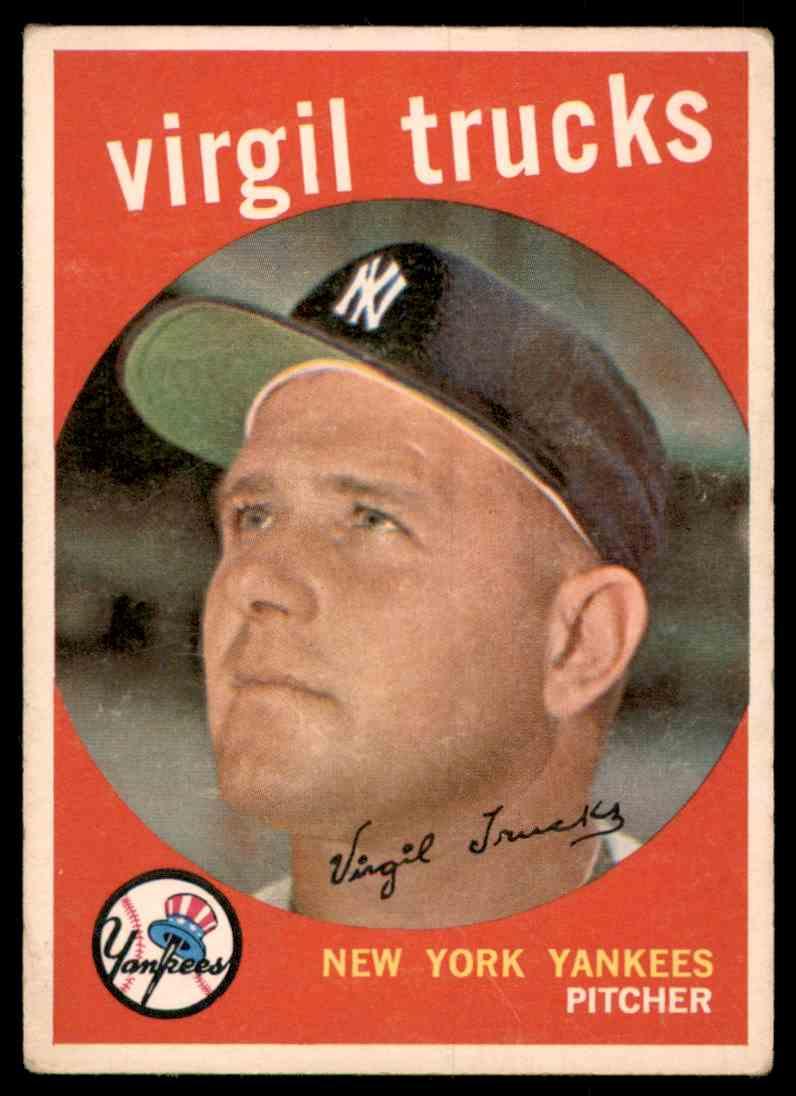 1959 Topps Virgil Trucks #417 card front image