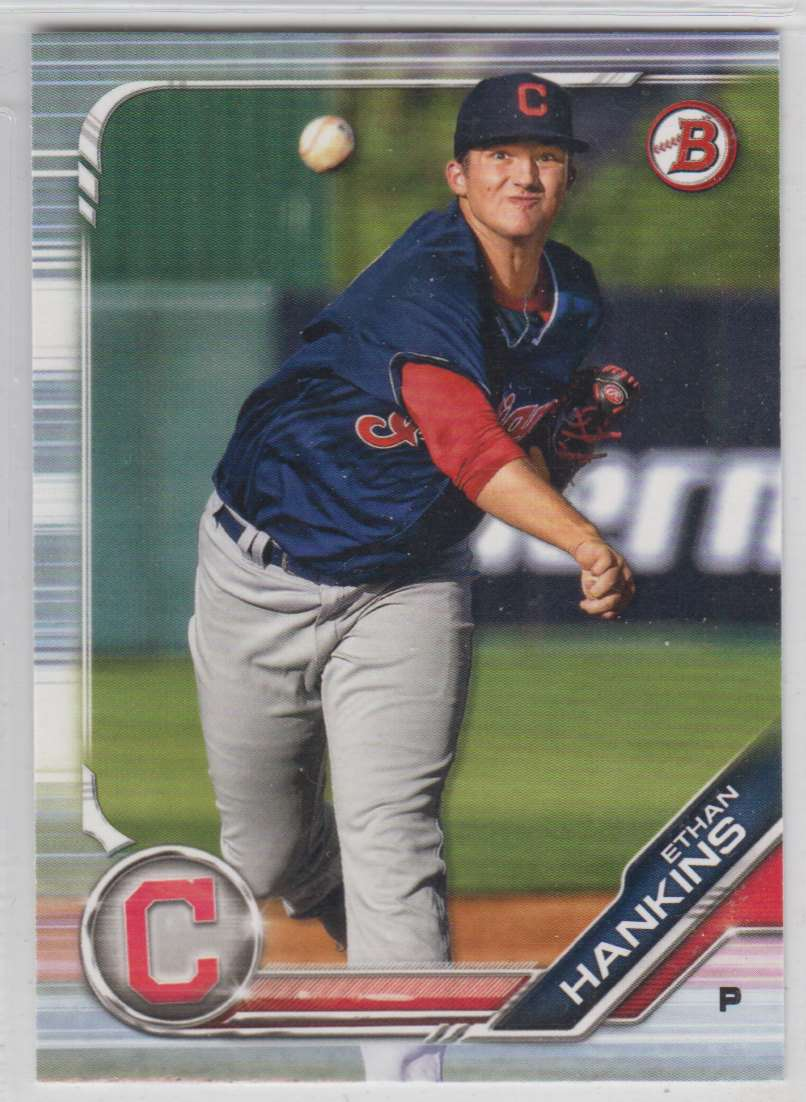 2019 Bowman Prospects Ethan Hankins #BP-15 card front image