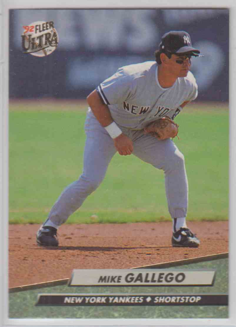 1992 Fleer Ultra Mike Gallego #406 card front image