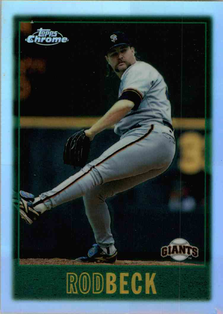 1997 Topps Chrome Rod Beck #152 card front image