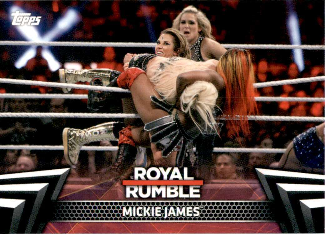 2019 Topps Wwe Women's Division Women's Royal Rumble Mickie James #RR4 card front image