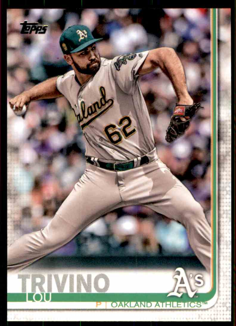 2019 Topps Lou Trivino #83 card front image