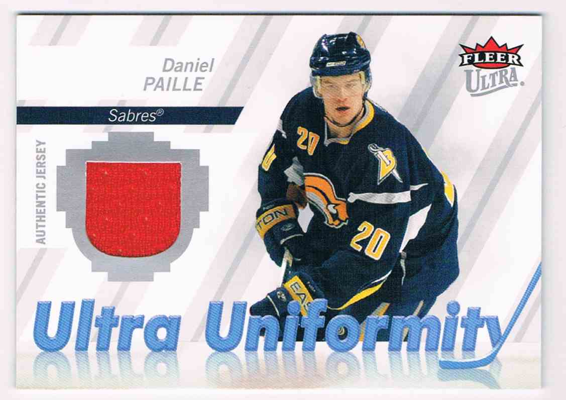 2007-08 Upper Deck Ultra Uniformity Daniel Paille #U-DP card front image
