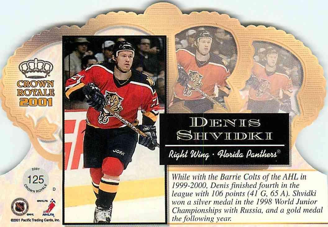 2001-02 Pacific Crown Royale Denis Shvidki #125 card back image