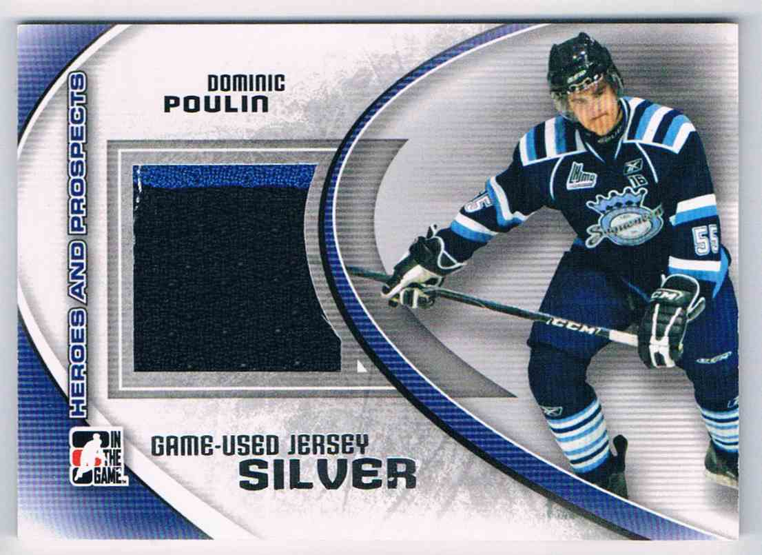 2011-12 ITG Heroes & Prospects Dominic Poulin #M-18 card front image