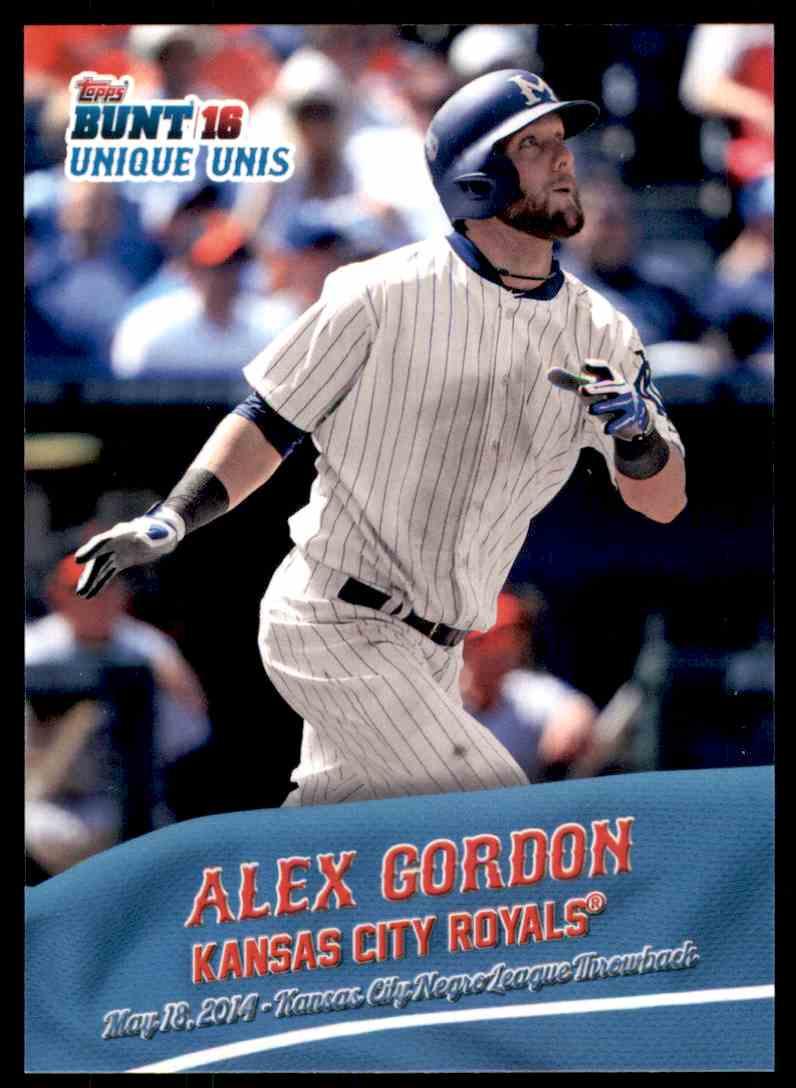 2016 Topps Bunt Unique Unis Alex Gordon #UU-6 card front image